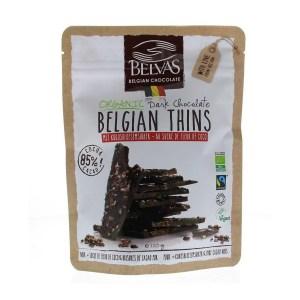 Belvas Thins dark 85% met kokosbloesemsuiker 120 gram