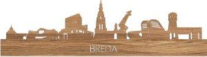 Skyline Breda Eikenhout - 100 cm - Woondecoratie design - Wanddecoratie met LED verlichting