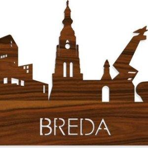 Skyline Breda Palissander hout - 120 cm - Woondecoratie design - Wanddecoratie met LED verlichting