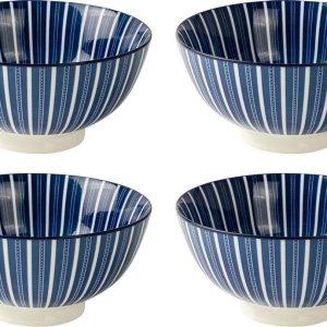 Gusta schaaltje ø15,7cm out-of-the-blue Stripes - set 4 stuks