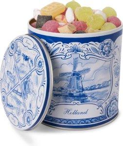 Oud hollands snoep in Delfts blauw blik