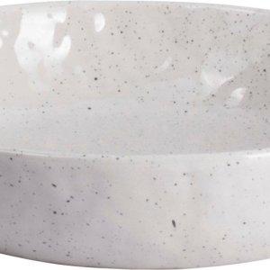 Gusta schaal aardewerk wit (Ø 20,8 centimeter x 4 centimeter)