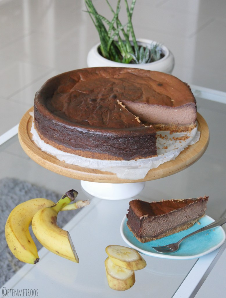 chocolade bananen cheesecake