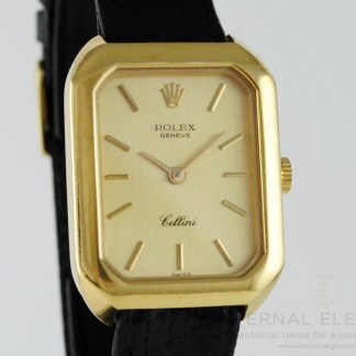 Rolex Cellini 18k Yellow Gold Manual Wind Vintage Swiss Watch