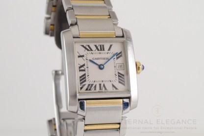 Cartier Tank Francaise 2465 Mid-Size Stainless Steel & 18K Gold Quartz Watch