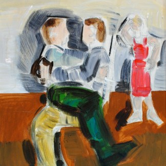 Georgiou, Apostolos | Oil on Canvas Painting, Figures, 44cm x 34cm