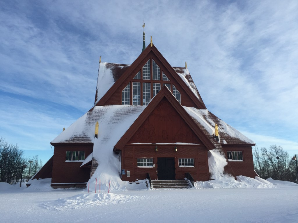 Kiruna Church Sweden - the jumping off place to see the Northern lights