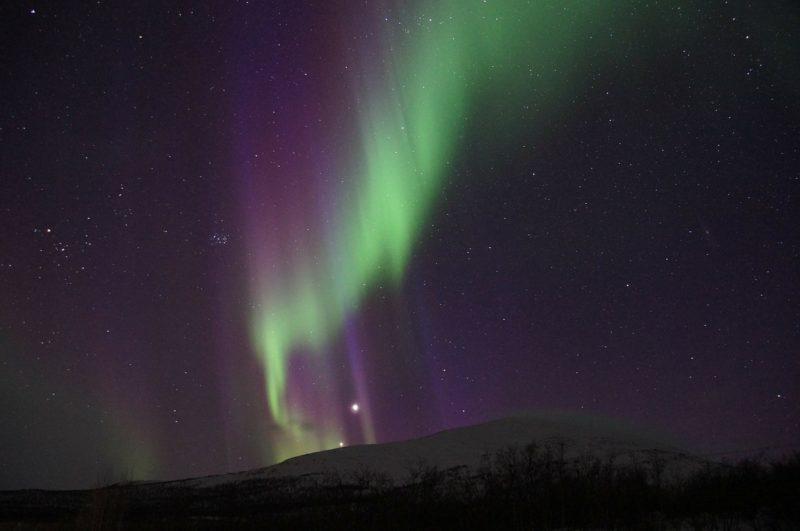 Northern lights in Abisko are stunning