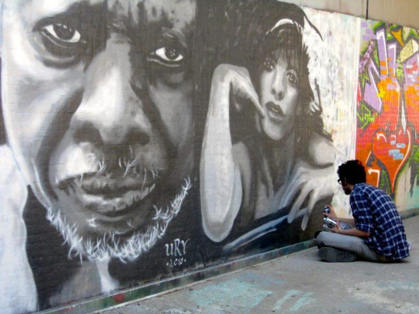 Street art in Barcelona, Spain
