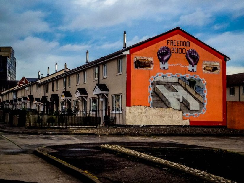 Street art in Belfast, Ireland