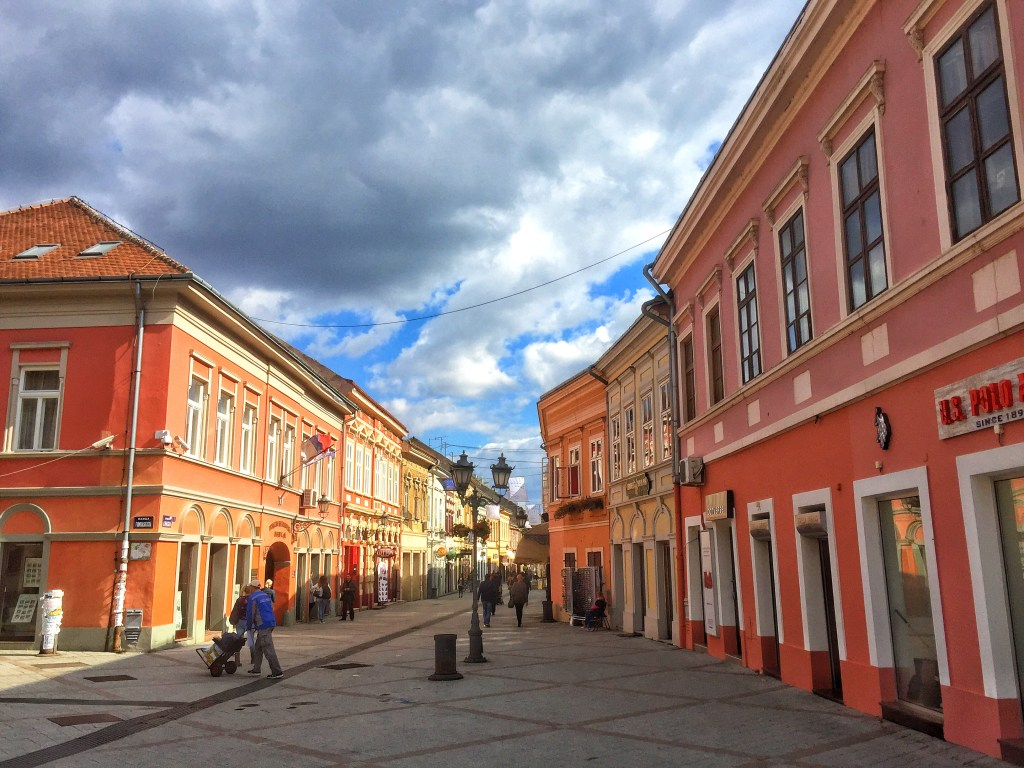 The colorful streets of downtown Novi Sad