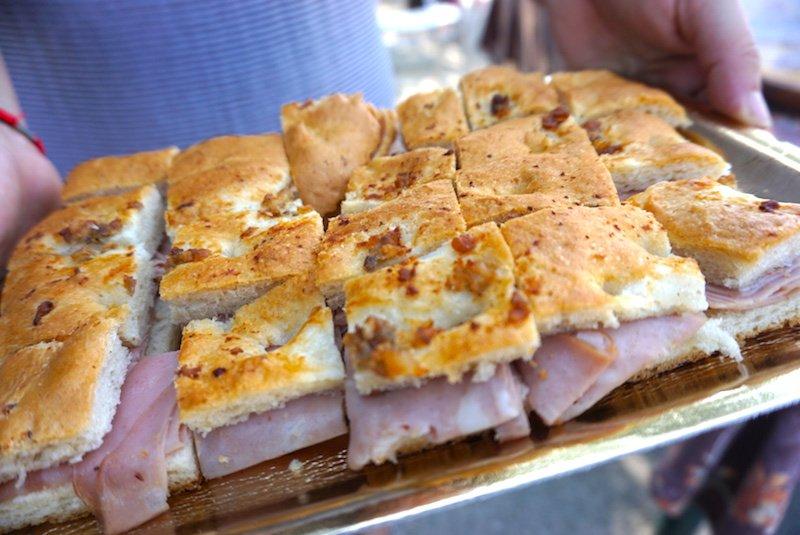 mortadella and bread