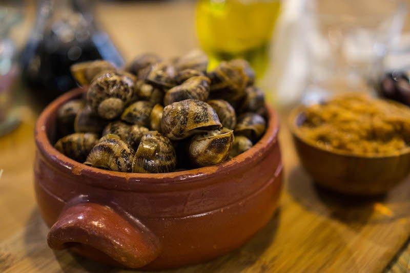 escargot in a pot in malta