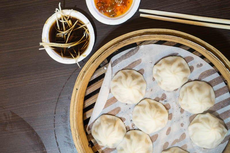 delicious dumplings on Shifen Old Street