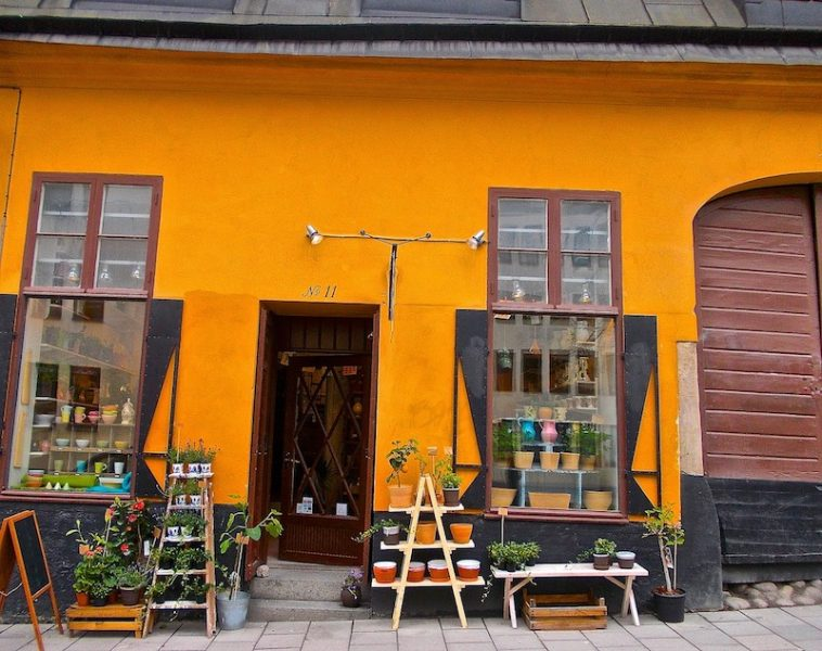 A design shop in Sodermalm, near some of the best hostels in Stocokholm
