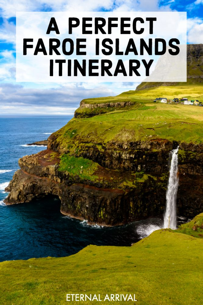 Planning a trip to the Faroe Islands, Denmark? This Faroes itinerary will help you plan the perfect Faroe Islands road trip, whether visiting in summer for hiking and puffins or in winter for the Northern lights and snowy landscapes. From popular Faroes travel photography stops like Gasaladur Waterfall, Sorvagsvatn Lake, Gjogv and Torshavn to offbeat places like Vidareidi and Suduroy, here is an easy to follow Faroe Islands travel guide to help you plan the perfect Faroe Islands itinerary!
