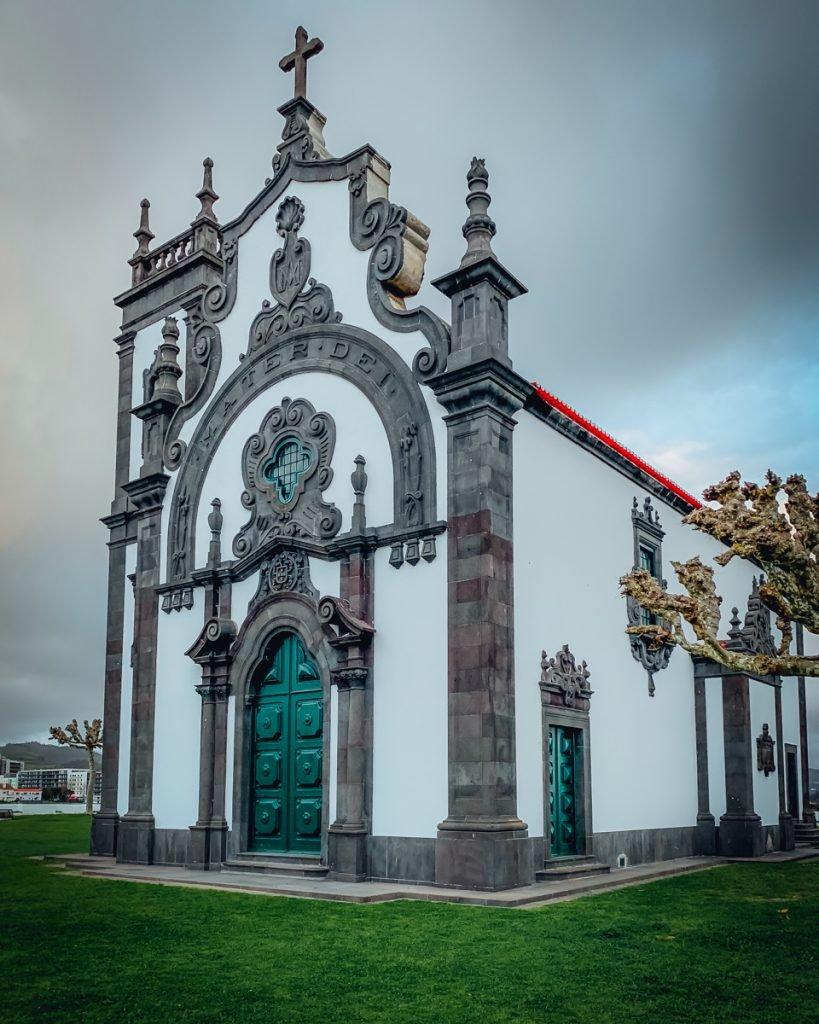 a brilliant church on a hill on a cloudy day