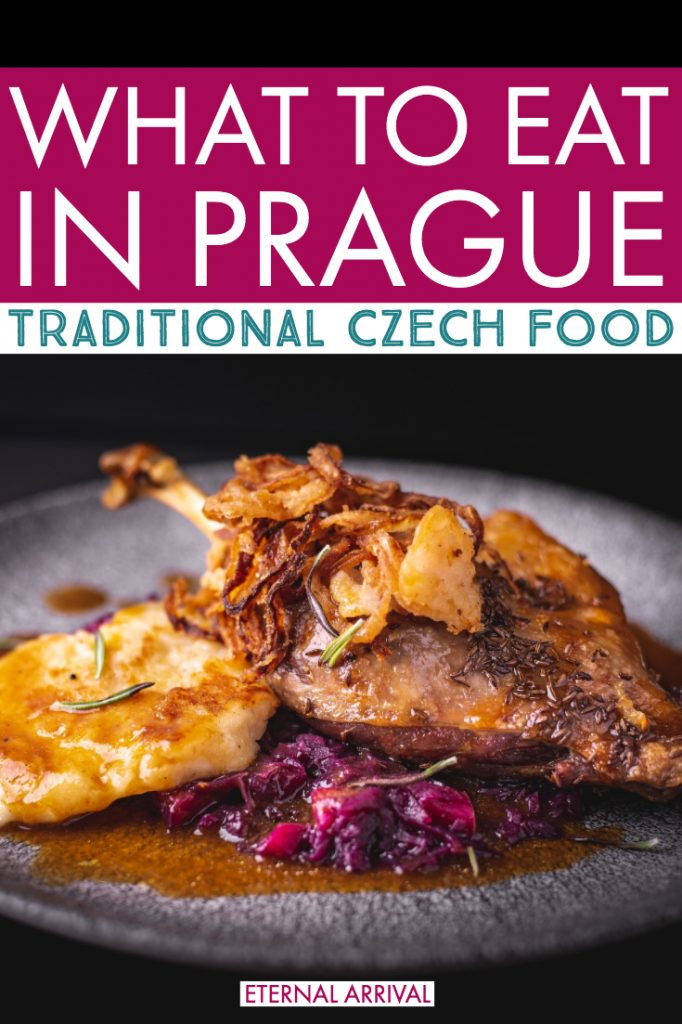 Clueless about traditional Czech food and what to eat in Prague? I got you! I used to live in Prague, and I'm here to take you on a mini Prague food tour through my favorite Czech dishes. Full of tips of where to eat in Prague, what to order, what is traditional (hint: bread dumplings) and what is not (hint: trdelnik). Full of local advice and favorites to help you skip the tourist traps and eat well on your trip to Prague!