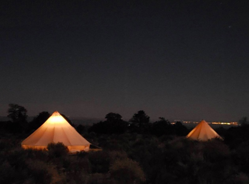 Grand Canyon camping tents near the Grand Canyon