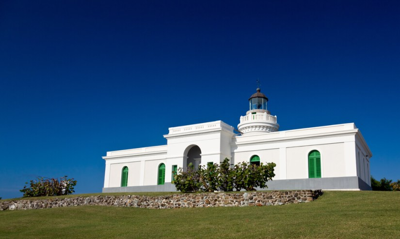 the white and green lighthouse in fajardo