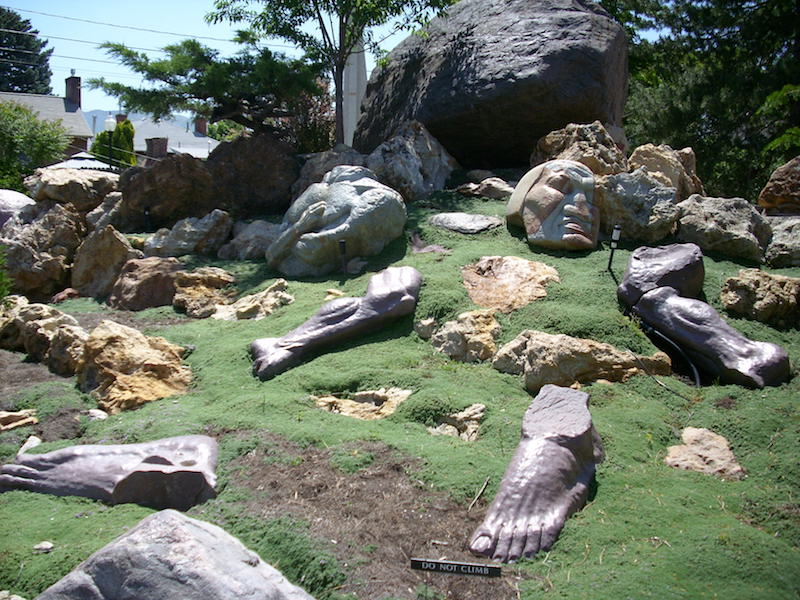 A statue of scattered parts of a body an interpretation from a biblical story