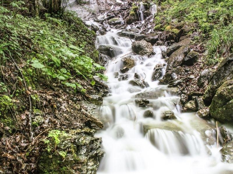 a beautiful waterfall near Interlaken Switzerland