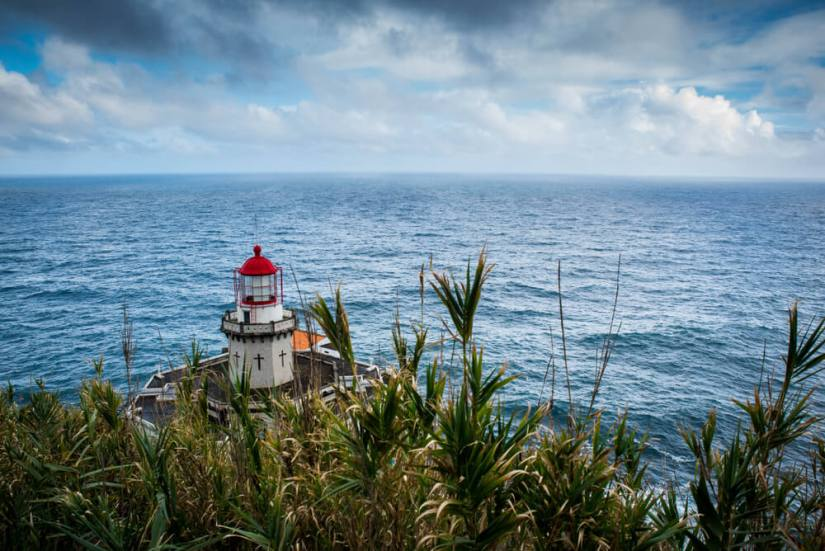 lighthouse at the edge of the azores