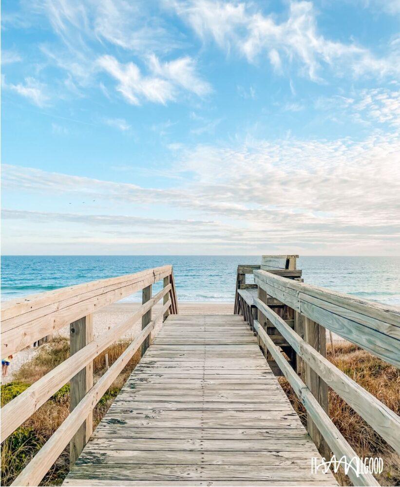 boardwalk leading to a beautiful beach