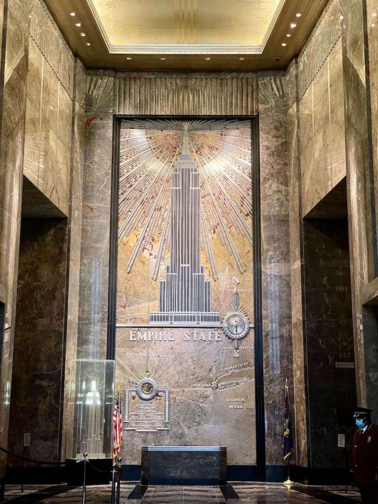 The Art Deco interior of the Empire State Building