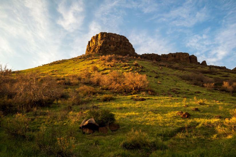 Beautiful spring landscape in South Table Mountain Park, Golden, Colorado