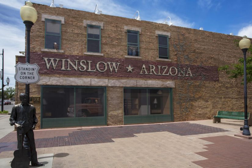 "Public ""standin on the corner"" park in Winslow Arizona on Route 66"