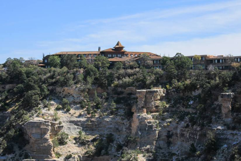 one of the lodges at the grand canyon south rim