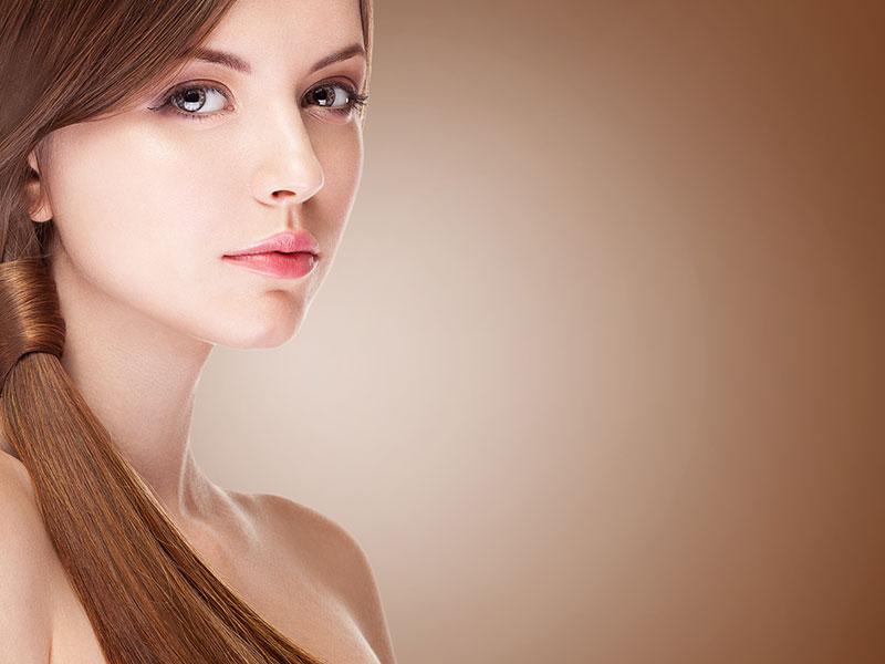 Beautiful Woman with Advanced RapidLash Treatment