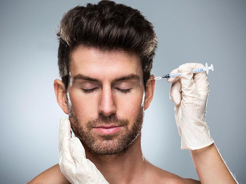 Botox Injection On Man