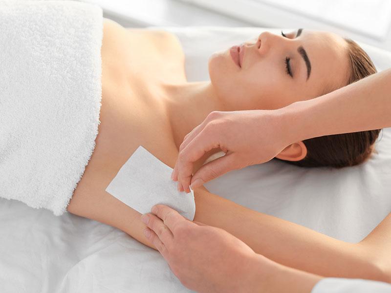 Woman Getting Armpit Waxing
