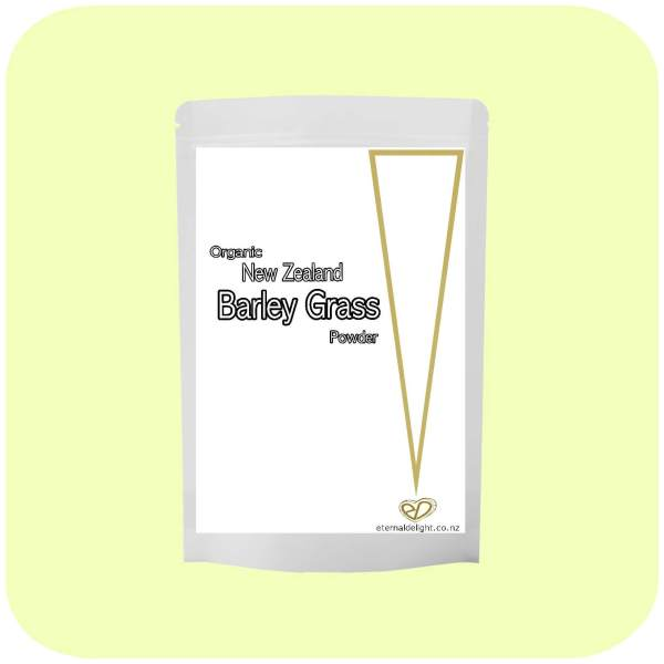 BARLEY GRASS. ORGANIC NZ POWDER. ETERNALDELIGHT.CO.NZ