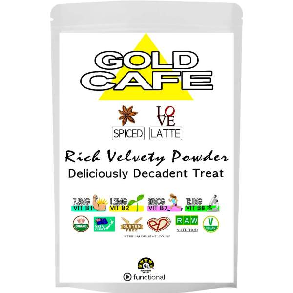 GOLD CAFE LATTE POWDER. ETERNALDELIGHT.CO.NZ