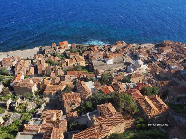 Monemvassia castle-town, Peloponnese, Greece