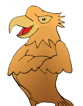 One of my doodles, standing semi-serious eagle.