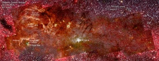 Mosaico do centro da Via Láctea