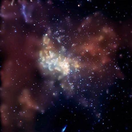 Sagittarius A - visão do centro da Via-Láctea (uma das 10 fotos mais vistas em 2008 na National Geographic) - crédito: NASA, /CXC, MIT, F.K.Baganoff et al