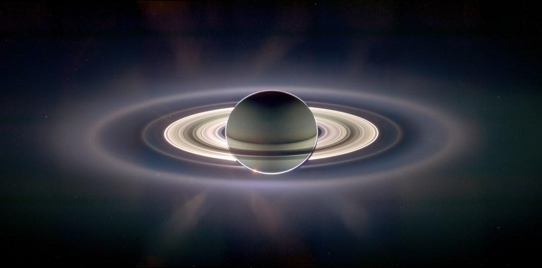 Cassini fotografou todos os anéis de Saturno de uma só vez durante a ocultação de 2006