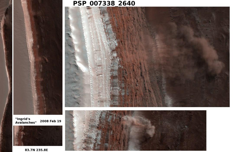 Avalanche em Marte