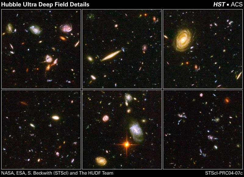 Detalhes da visão de campo ultra profundo de Hubble