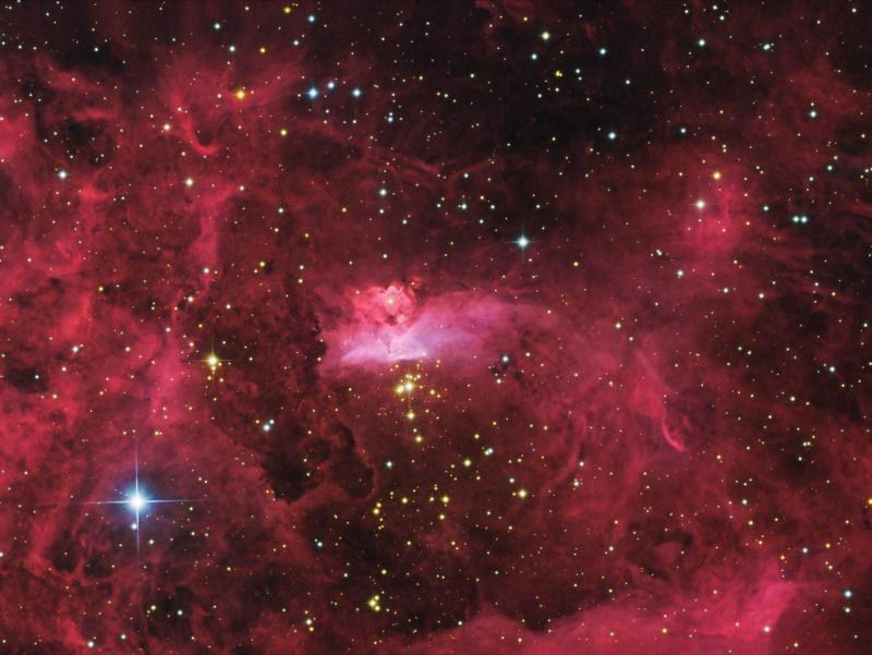 A nebulosa NGC 6357 fotografada por Johannes Schedler (Panther Observatory)