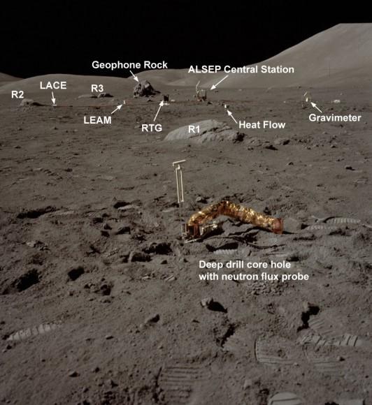 Foto tirada pelos astronautas da Apollo 17 em 1972.