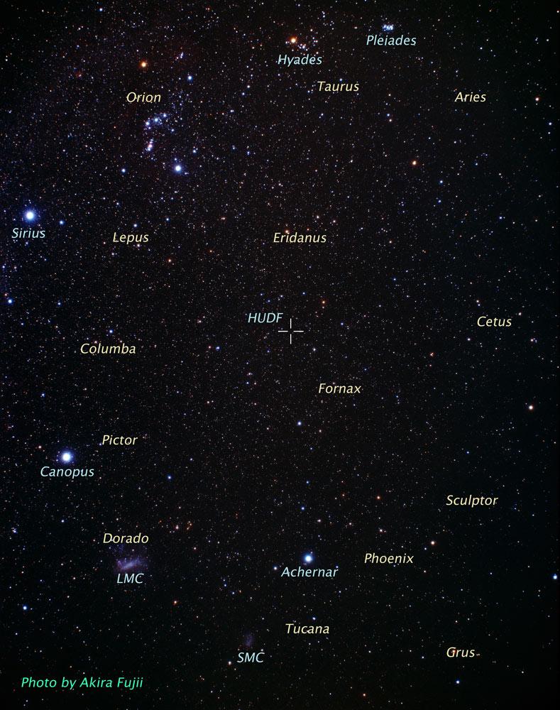 Imagem mostra no céu onde foi capturada a observação de campo profundo.