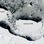 A Terra vista do espaço: choque da geleira Mertz com o massivo iceberg B09-B gera novo iceberg gigante