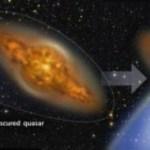 Os quasares passam metade de suas vidas escondidos pela poeira cósmica