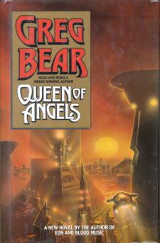 Capa do livro Queen Of Angels (primeira edição) por Greg Bear